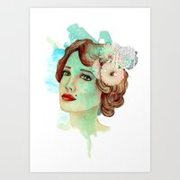 Retro Woman 2 Art Print