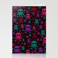 Skull Danger Stationery Cards