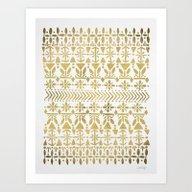 Norwegian Pattern – Go… Art Print