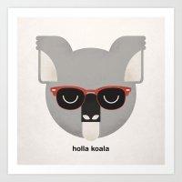 Holla Koala Art Print