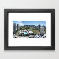 Honolulu View Framed Art Print