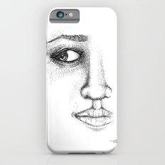 Fine Liner Stippling Girl 1 iPhone 6 Slim Case
