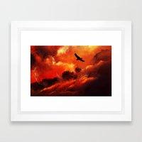 Gökyüzü, Yeryüzü.. Framed Art Print