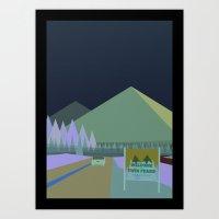 Welcome To Twin Peaks Po… Art Print