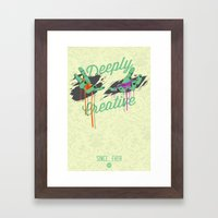 Deeply Creative Framed Art Print