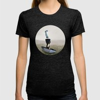 Umbrella melancholy Womens Fitted Tee Tri-Black SMALL