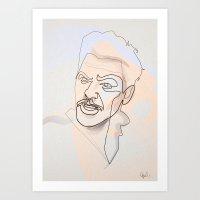 One line Ulysses Everett McGil Art Print