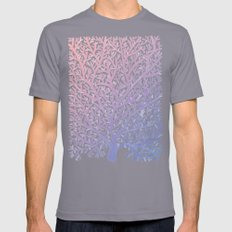 Fan Coral – Rose Quartz & Serenity Mens Fitted Tee Slate SMALL