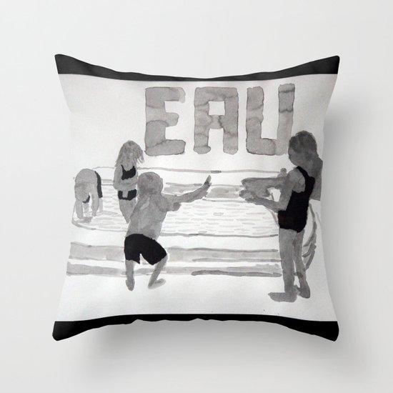 Agua - Eau - Water Throw Pillow