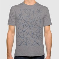 Ab Dotted Lines Navy Mens Fitted Tee Tri-Grey SMALL