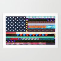 Boho America Art Print