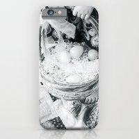 A Tisket A Tasket II BW iPhone 6 Slim Case