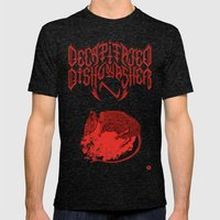 Decapitated By Dishwashe… Mens Fitted Tee Tri-Black SMALL
