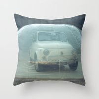 bubble car Throw Pillow