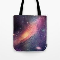 Tote Bag featuring Galaxy colorful by Msimioni
