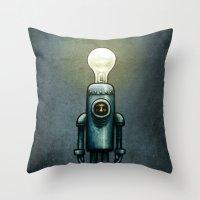 Mr. Bulb Throw Pillow