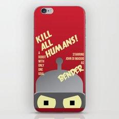 Kill All Humans iPhone & iPod Skin