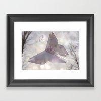 Double Exposure Butterfl… Framed Art Print