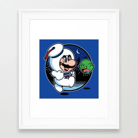 Super Marshmallow Bros. Framed Art Print