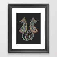 Technicolour Kitties Framed Art Print