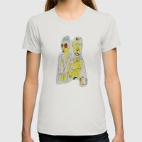 ma and pa sun Womens Fitted Tee Silver SMALL