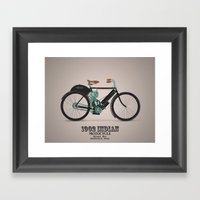 1902 Indian Motorcycle Framed Art Print