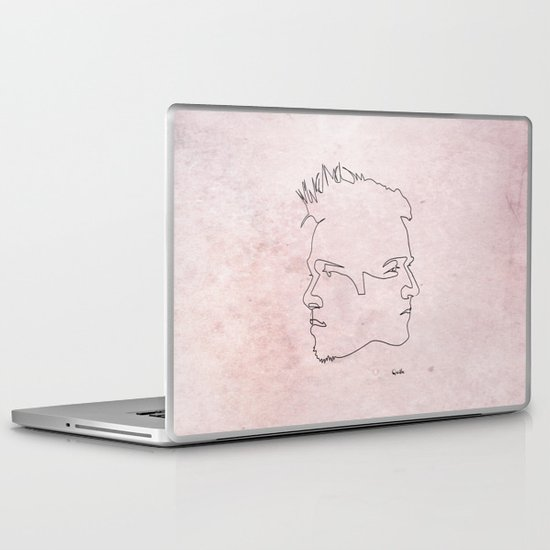 One line Fight Club Laptop & iPad Skin