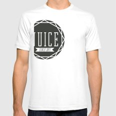 Juice Emblem Mens Fitted Tee SMALL White