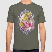 Zombie Sleeping Beauty Mens Fitted Tee Lieutenant SMALL