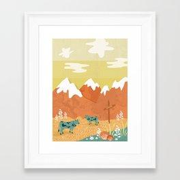 Framed Art Print - Alpine - Kakel