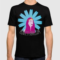 Princess Bubblegum Mens Fitted Tee Black SMALL