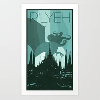 Every City Has Its Creature -R'lyeh Art Print