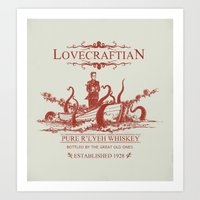 Lovecraftian Whiskey Art Print