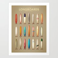 Classics longboards Art Print