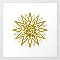 Star (gold) Art Print
