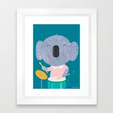 Koala Drummer Framed Art Print