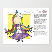 Sadie the Pattern Lady Canvas Print
