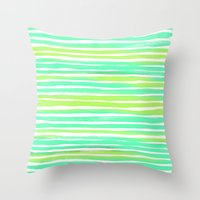 Summer Stripes Throw Pillow