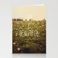 Life Is Beautiful (Dande… Stationery Cards