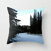 Wintertime In WaterValle… Throw Pillow
