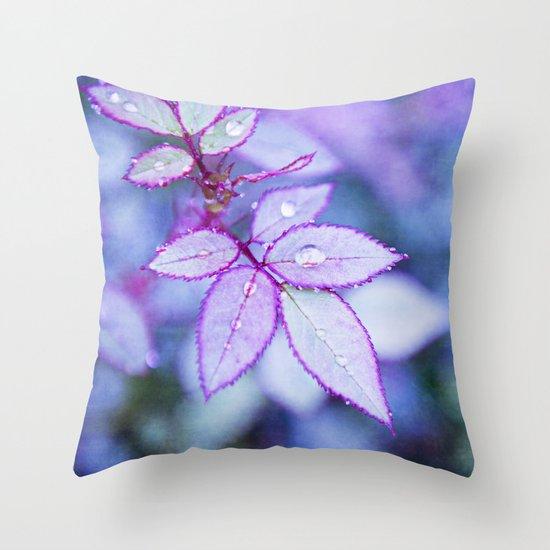 Lilac Rim Throw Pillow