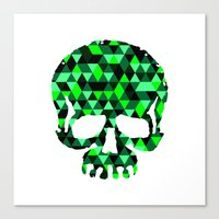Triangle Camouflage Skul… Canvas Print