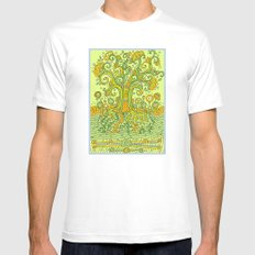 Treedum White SMALL Mens Fitted Tee