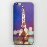 Eiffel tower by night iPhone & iPod Skin