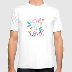 Love and be Loved Mens Fitted Tee SMALL White