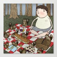 Eating My Lunch Canvas Print