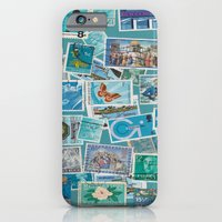 Postage Bleu iPhone 6 Slim Case
