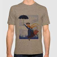 Mary Poppins Mens Fitted Tee Tri-Coffee SMALL