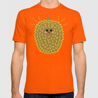 Happy Pixel Durian Mens Fitted Tee Orange SMALL