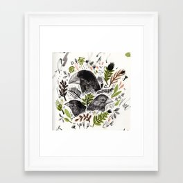 Framed Art Print - DARWIN FINCHES - Sandra Dieckmann